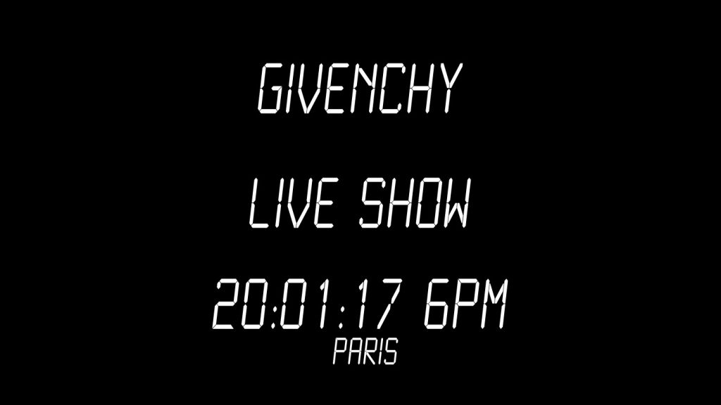 [Live stream] Catch Givenchy's FW 17 show live from Paris on Men's Folio
