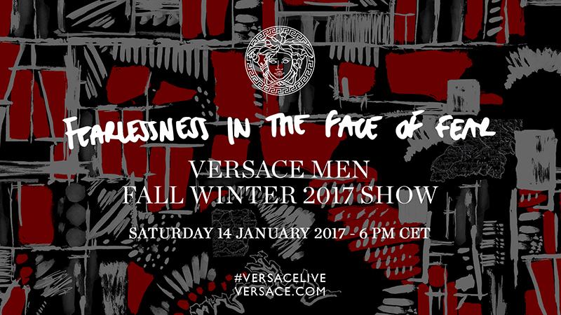 [LIVESTREAM] Versace FW'17 Menswear from Milan Fashion Week