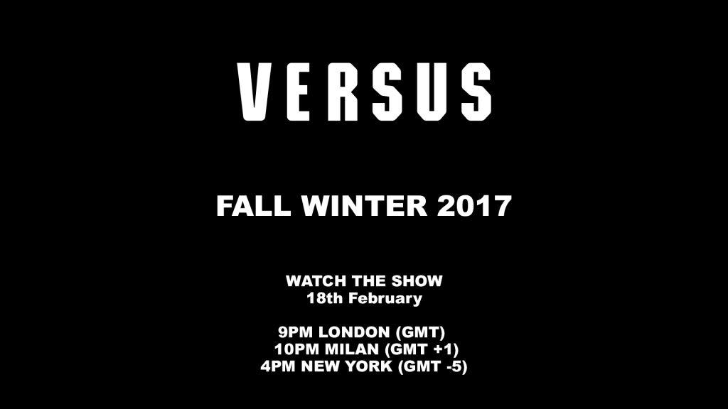 Livestream: Versus Versace Fall-Winter 2017 Runway Show From London Fashion Week
