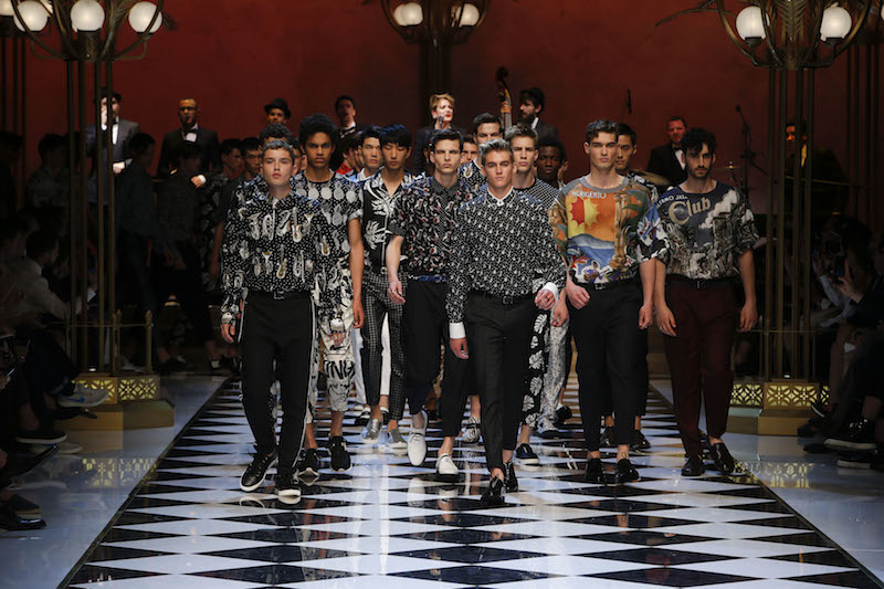 Dolce & Gabbana Spring/Summer 2017 show: @presleygerber and @raff_law on the runway