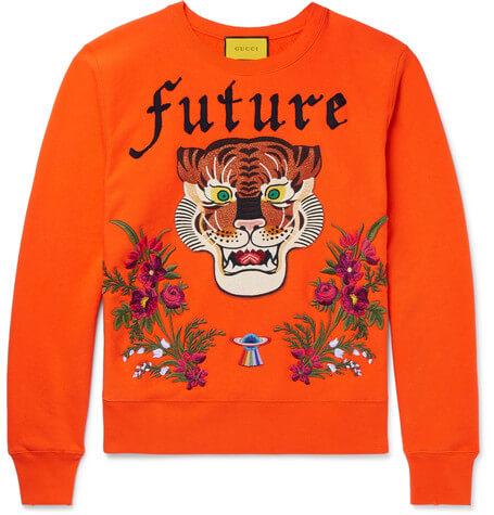 Gucci X Mr Porter Embroidered Sweatshirt