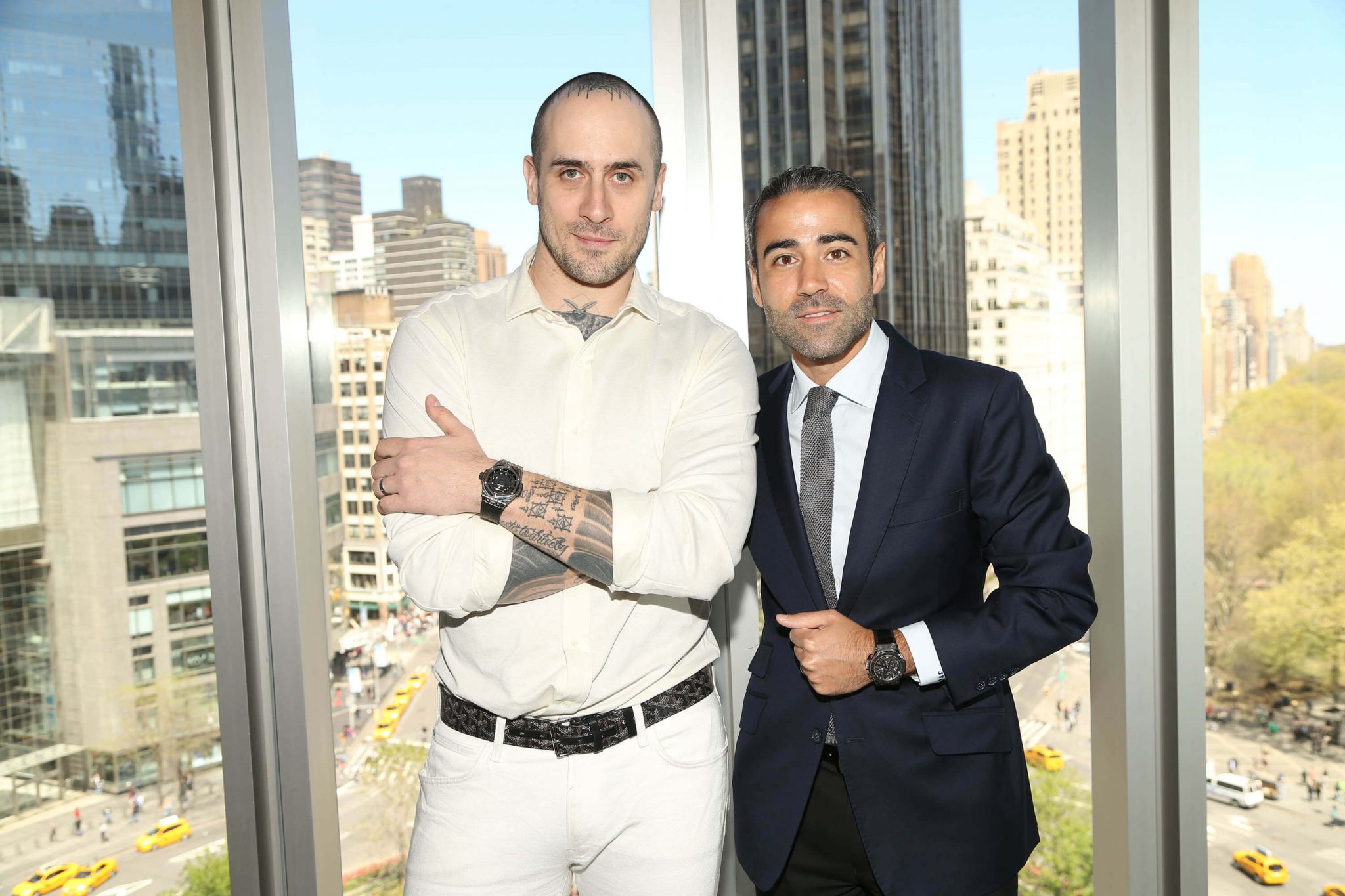 Maxime Büchi and Jean-François Sberro (General Manager of Hublot America