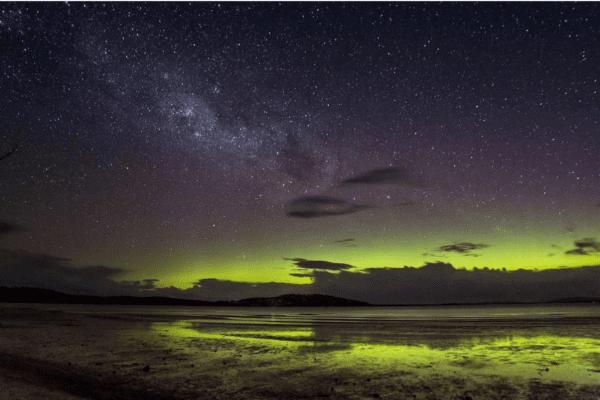Aurora Australis in Tasmania by @australiangeographic