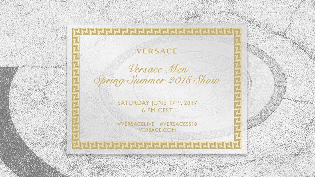 LIVESTREAM: Versace Spring/Summer 2018 Runway Show From MilanFashion Week