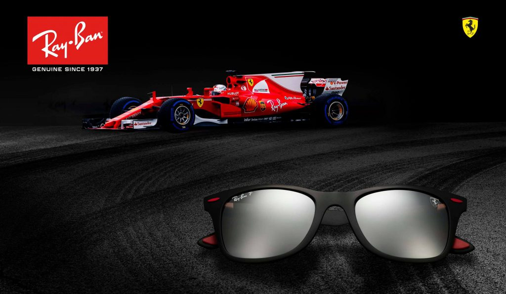 Ray-Ban and Scuderia Ferrari join forces for the ultimate range of high-tech sunglasses