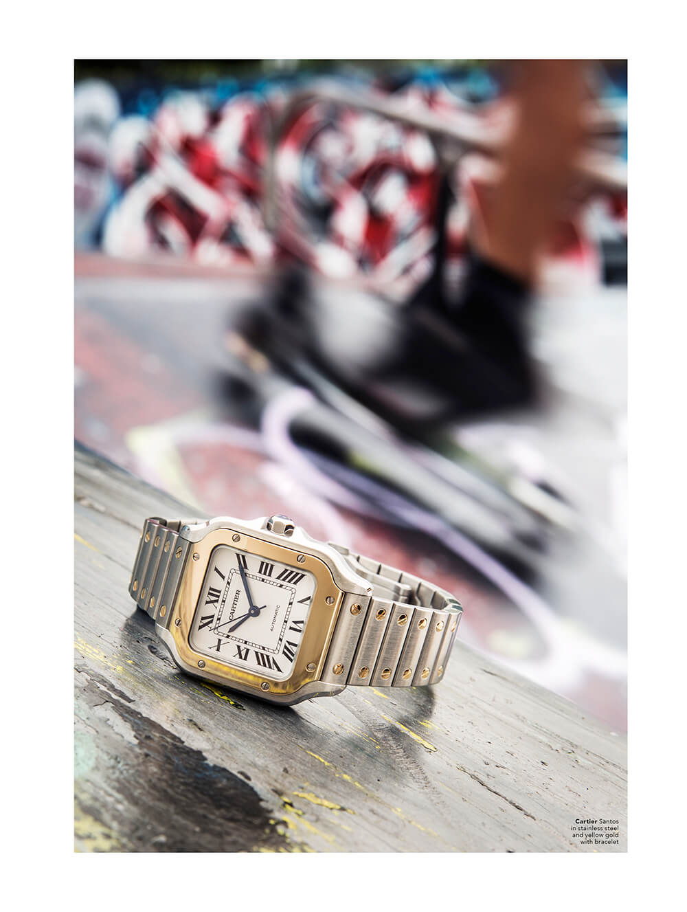 Cartier Santos in stainless steel and yellow gold with bracelet