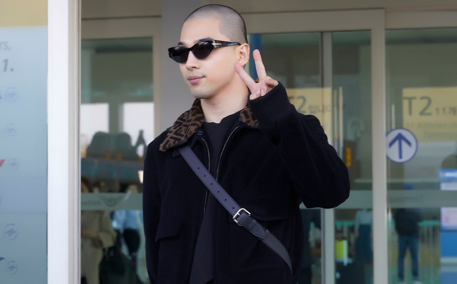#ManCrushMonday — TaeYang's First Style Swerve Post Military Service is A Fendi Fit