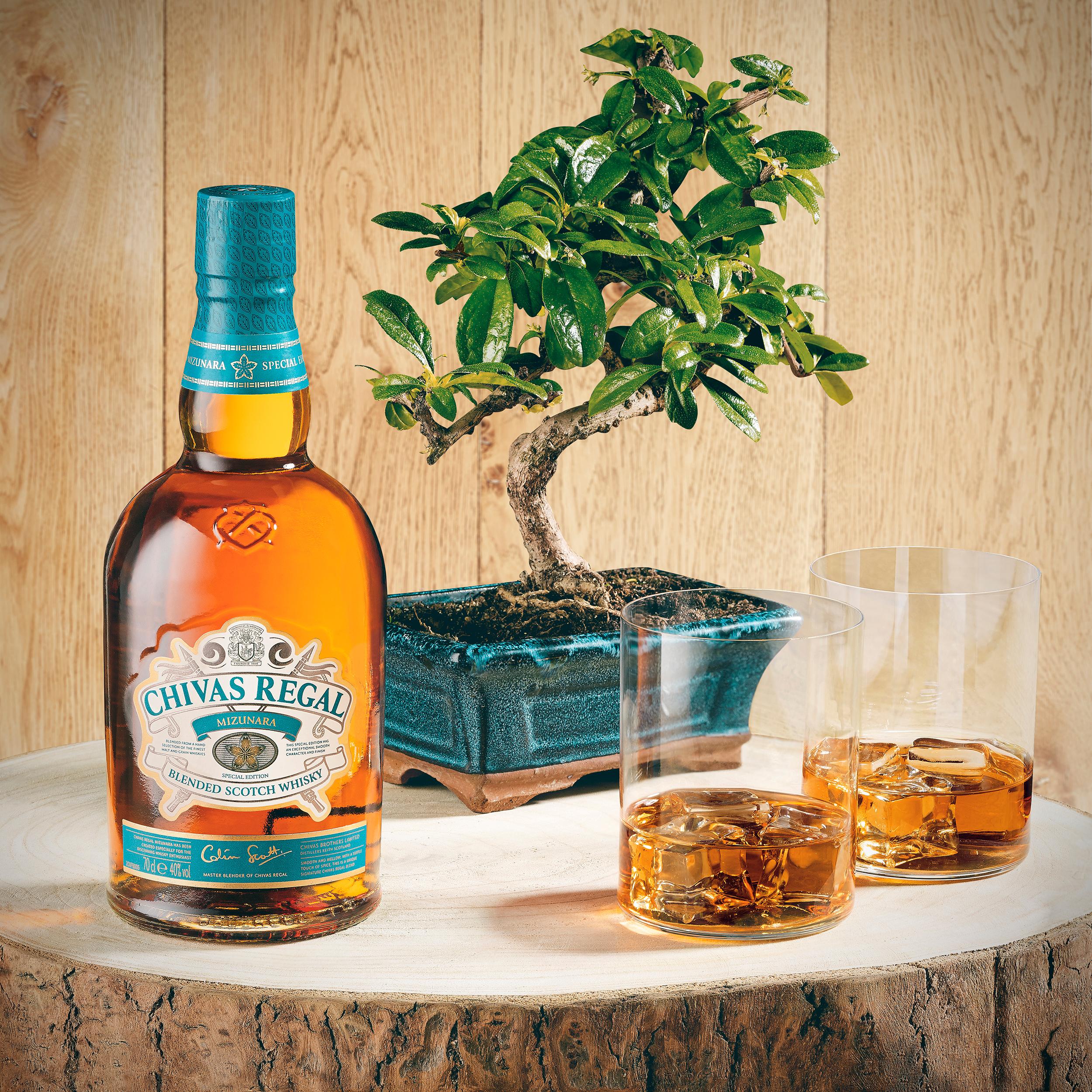 home bar bottles chivas mizunara regal