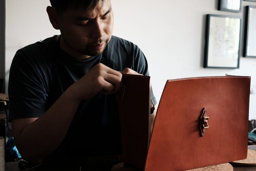 Kenneth Teh Leather Studio The Blue Ficus