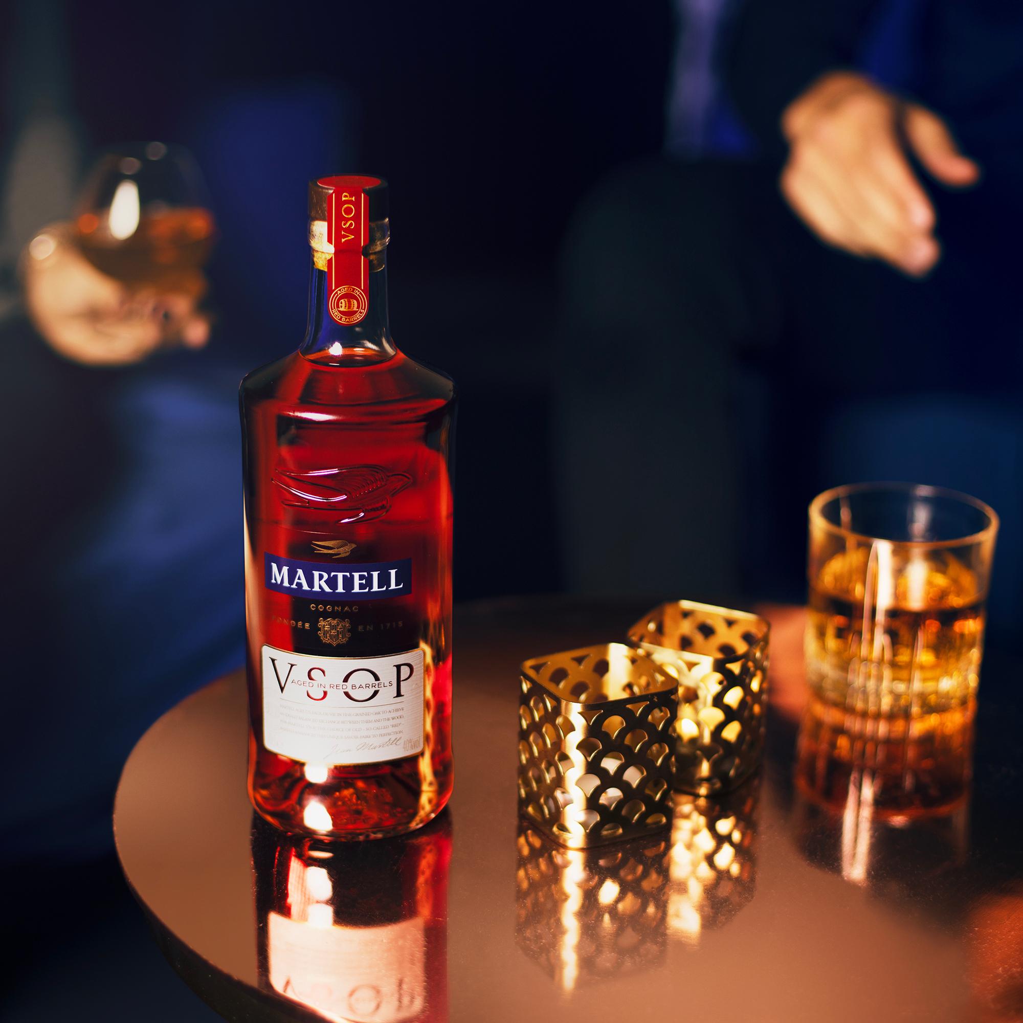 home bar bottles martell VSOP